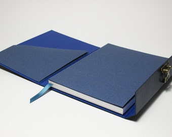 Notebook leather with metal clasp