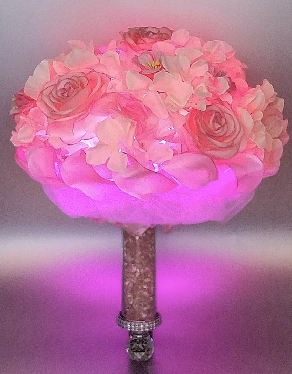 items similar to cotton candy illuminated bouquet on etsy