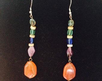 Martha's Vineyard Glass Bead Earrings