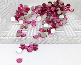 12 Rose Rhinestone, Swarovski Crystal Flat Back, 4.6mm Xirius Rose, Round Pink Rhinestone, SS20, Coral Rhinestone, Non Hot Fix, DIY, YC1976
