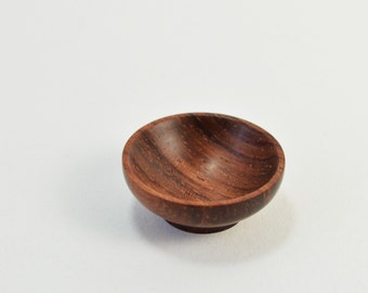 Miniature Wood Bowl ~ Artisan Wood Turning ~ 12th Scale Wooden Bowl