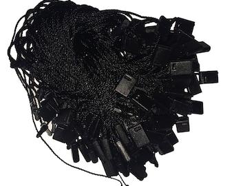 "7"" 500 Pcs Black Nylon Hang Tag Fasteners - FREE SHIPPING"