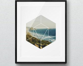 Geometric Print, Home decor, Scandinavian Print, Minimalist Art, Printable Wall Art, Ocean Photography, Minimalist Print, Geometric Wall Art