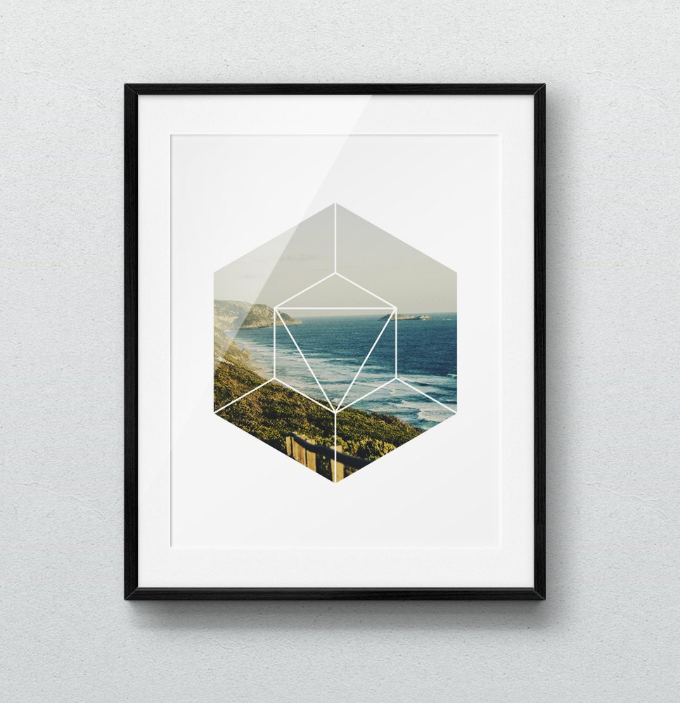 Geometric Home Decor: Geometric Print Home Decor Scandinavian Print Minimalist