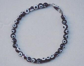 Black + White Spotted Bracelet
