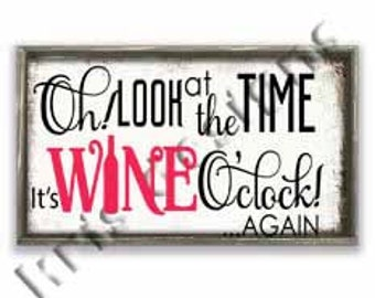 Wine O'clock svg png jpg