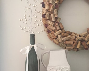 Antiqued Wine Bottle