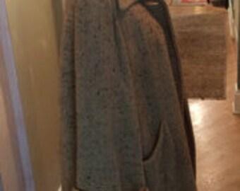 beautiful multi color tweed vintage 1940s women's swing jacket coat