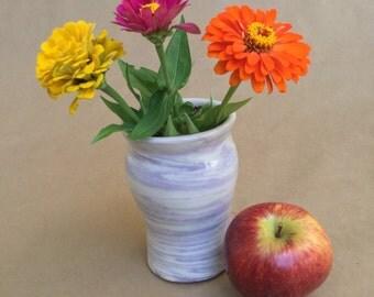 Agateware Lavender Vase - Porcelain