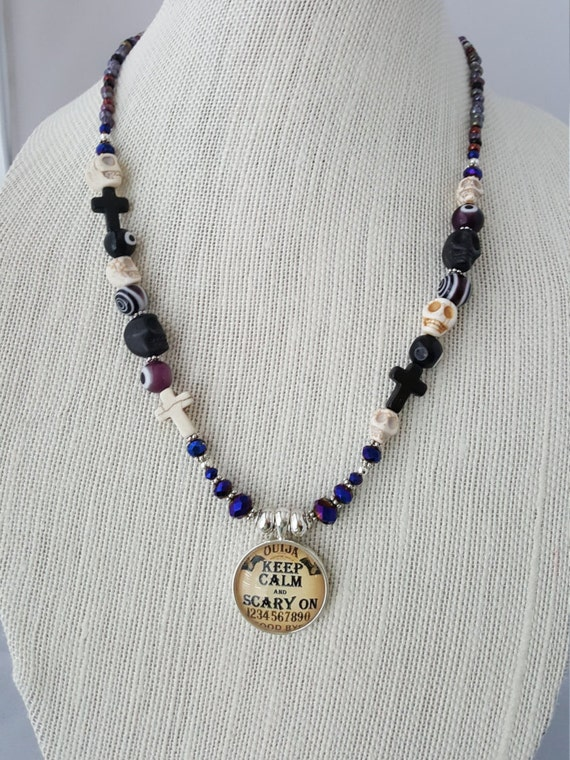 Black Day of the Dead Goth necklace