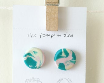 Goddess range: marbled earrings/ polymer clay earrings/ studs/