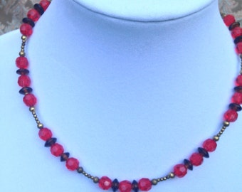 "Necklace ""Red Berry"""