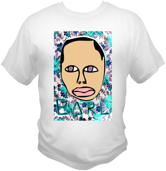 Earl Sweatshirt T-SHIRT Golf Wang, Odd Future, Frank Ocean, Tyler The Creator,  Hawaiian Floral Print Theme