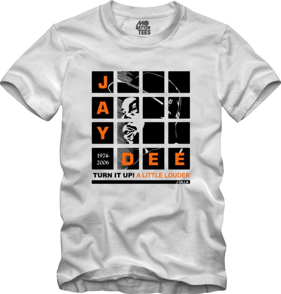 J Dilla white T-Shirt MPC Pads Doughnuts Shining Graphic Tee Jay Dee SV Hip-Hop super producer