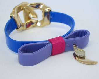 Bracelet semi-leather with bow and pendant cacho