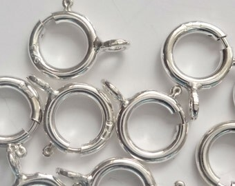 Sterling silver Bolt Ring Clasps 6mm Jewellery Making PK10 PK50