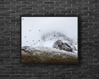 Winter Mountain Photo - Landscape Photography - Mountain Landscape - Winter Photo - Mountain Print - Mountain Wall Art - Winter Wall Decor