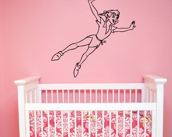 Peter Pan Wall Decal Vinyl Sticker Disney Art Decorations for Home Teen Kids Boys Baby Room Nursery Bedroom Playroom Cartoon Decor pitp2
