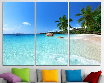 Large Wall Art Canvas Print Tropical Island Beach Ocean View