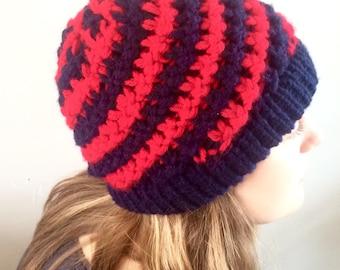 Spiral Pattern Woollen Hat
