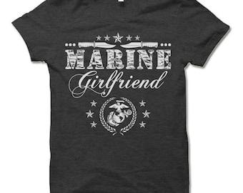 Marine Girlfriend Shirt.  Cool Gift for Girlfriend.