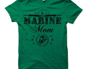 Marine Mom Shirt.  Cool Gift for Marine Mom.