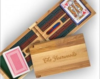 OUT OF STOCK until 12.23.17 - Personalized Cribbage Set - 3555