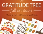 Gratitude Tree / Thankful Tree / Fall Printable / Thanksgiving Printable / Tree Wall Art // Instant PDF Download