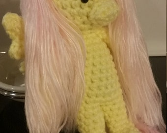 "My Little Pony Fluttershy ""Hearth's Warming"" Crochet Doll"