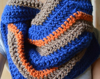 Long Zig Zag infinity scarf