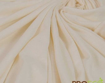ProECO Bamboo Silky Jersey Fabric (Natural, sold by the yard)