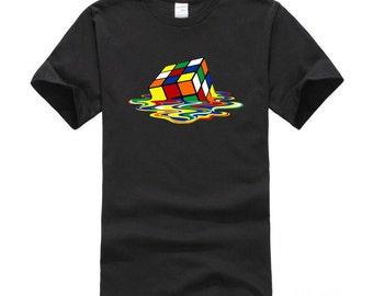 Big Bang Theory Shirt, Rubix Cube Shirt, Melting Rubix Cube Shirt, Big Bang Theory T-Shirt, Rubix Cube T-Shirt