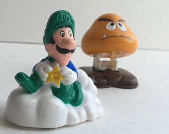 Super Mario Brothers, McDonalds toys, Happy Meal toys, Luigi, Goomba