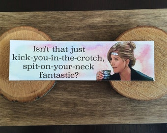 Friends Bookmark - Quote - Rachel - Isn't that Just Kick-You-In-The-Crotch, Spit-On-Your-Neck Fantastic?