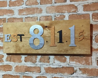 Personalised Date Plaques