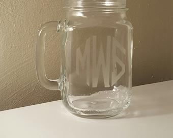 Bold Personalized Mason Jar