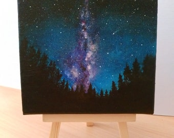 Milky Way | Original Acrylic Painting | 15 cm