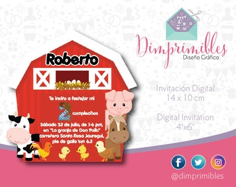 Farm, Farm Invitation, Farm Printable, Farm Party, Farm Birthday, Farm Animals
