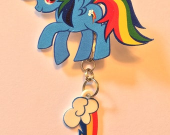Classic Rainbow Dash pin and cutie mark