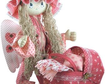Doll Angel sewing Kit  Textile carcass doll with individual traits Kit Nova Sloboda