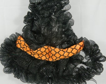 Witch Hat Deco Mesh Wreath