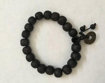 Ghana Wooden Bead Bracelets