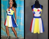 "MADE TO ORDER Katy Perry ""Beach Ball"" Inspired Dress with Rhinestones as seen on Kelly Ripa"