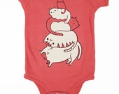 Cat Baby Clothes Baby Bodysuit - Cat Baby Clothing - Organic Baby Clothing Cat Baby Gift, Newborn Baby Girl Gift