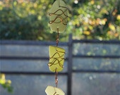 Sun Catcher Sea Glass with Copper beach glass stained glass suncatcher