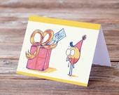 Big Present Birthday Greeting Card
