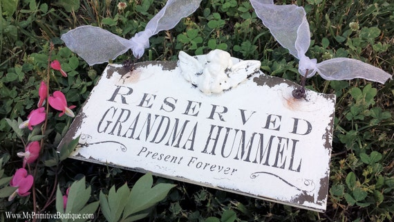 Reserved Sign | In Loving Memory Sign | Memorial Sign for Wedding | Heaven Signs | Reserved Seating Sign | Rustic Wedding | Personalized