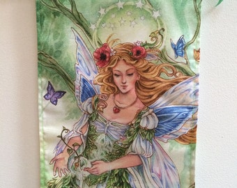 Tarot Empress | nature fairy | mother nature | gaia | art hanging | wall scroll | Meredith Dillman