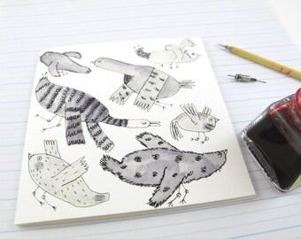 Square Greeting Card: Bird Flock
