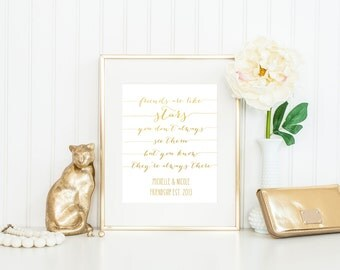 Personalized Friendship Print / Best Friend Gift / Gift for Friend / Friendship Gift / ACTUAL FOIL / Black or White / Gold Foil Print